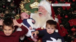 See kids have meltdowns on Santa's lap in these funny photos
