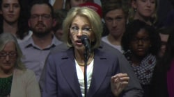 Secretary of Education Nominee Betsy DeVos Speaks at Trump Rally
