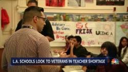 Some LA Schools Are Enlisting Veterans as Teachers