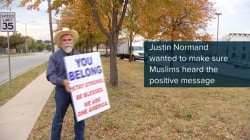 Texas man's uplifting message to Muslim-Americans