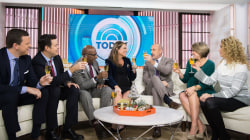 Join a surprise toast to Savannah Guthrie before her baby comes!