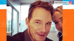 Chris Pratt comically crops 'Passengers' co-star Jennifer Lawrence from selfies