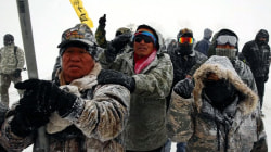 Temperatures Plunge at Dakota Protest Camp as Winter Storm Descends