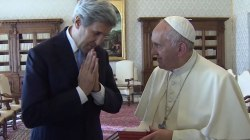 John Kerry Visits Pope Francis Before Rome Security Summit