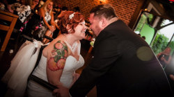 Hospital staff throws dream wedding for woman with brain cancer