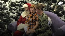 This military mom worked with Santa to create the best homecoming surprise