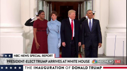 The Obamas Welcome the Trumps at the White House