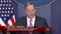 Spicer to WH Press Corps: 'Our Intention is Never to Lie to You'