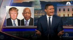 Late night comics mock Trump over Lewis