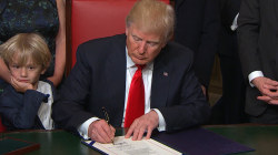 Trump Signs First Documents As President