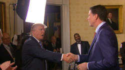 Trump Greets FBI Director Comey, Gen. Kelly at Reception