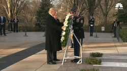 Trump, Pence Lay Wreath at Tomb of Unknown Soldier