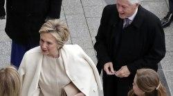 Hillary Clinton, Bill, Arrive at Trump's Inauguration