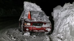 Avalanche Buries Car With Two Men Inside
