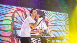 Watch One Direction's Louis Tomlinson perform 'Just Hold On' with Steve Aoki