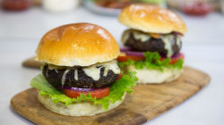14-year-old chef builds a better burger by blending meat with mushrooms