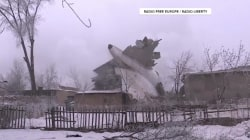 Dozens dead after Turkish cargo plane crashes in Kyrgyzstan village