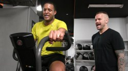 Watch Bob Harper help Craig Melvin kick his workout up a notch