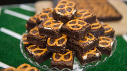Make caramel pretzel brownies, maple butter bacon popcorn for Super Bowl