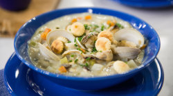 Try chef Will Gilson's delicious seafood chowder recipe