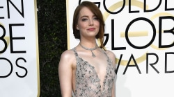 Golden Globes red carpet standouts: Emma Stone, Lily Collins, Drew Barrymore