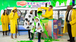 Slime time! John Cena helps quiz mom and son on Kids' Choice Awards