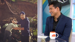 Mario Lopez recounts dangerous backyard landslide