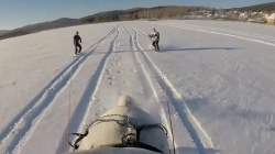 Forget Snowboarding, Try 'Horseboarding' on a Frozen Lake