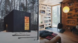 See the tiny library that sits in the woods of upstate New York