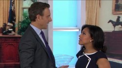 Watch TODAY's Sheinelle Jones play Olivia Pope of 'Scandal' opposite Tony Goldwyn