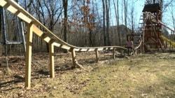 Need for Speed: Wisconsin Teens Build Backyard Roller Coaster