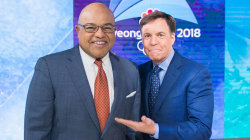 Bob Costas hands torch to Mike Tirico as new NBC Olympics host