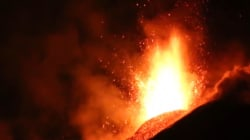 Mount Etna Erupts in Dramatic Form