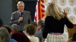 Sen. McConnell Confronted By Woman, Protesters at Town Hall