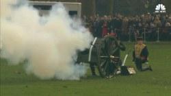 21-Gun Salute Honors Queen Elizabeth's Jubilee