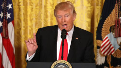 President Trump blasts media, defends record at press conference