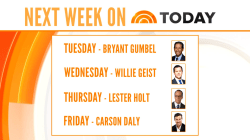 Lester Holt, Bryant Gumbel to co-anchor TODAY with Matt next week