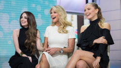 Joined by her daughters, Christie Brinkley tells media to 'lay off the kids'