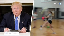 Highs and Lows: Trump's hole-in-one story, softball pitcher's strong dodgeball game