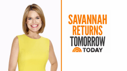 Savannah Guthrie returning to TODAY tomorrow morning ahead of a busy week