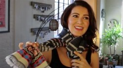 Five different ways to tie a basic cotton scarf
