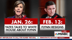 Flynn stayed at White House 17 days after DOJ tipped them off