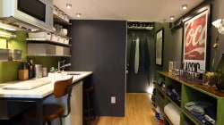 See how one man lives in a 150-square-foot apartment