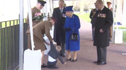 Tantrum-Throwing Toddler Refuses to Give Flowers to Queen