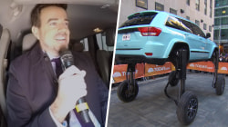 See Thinkmodo's elevating car give Carson Daly a big lift live on TODAY
