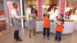 Pizza-tossing prodigies show TODAY anchors their impressive tricks