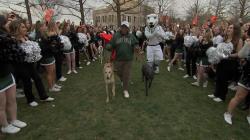 Watch Al Roker make his Rokerthon entrance at Loyola University Maryland