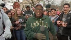 Al celebrates Guinness record with Loyola University Maryland ukulele group