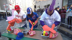 Watch 3 baseball fans do zany stunts to win spring training experience