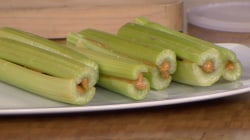Mess-free peanut butter celery and other genius snack hacks